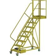 Tri-Arc – Échelle roulante en porte-à-faux non renforcée de 80 po, striée, 89 x 89 po (UCU500820242)