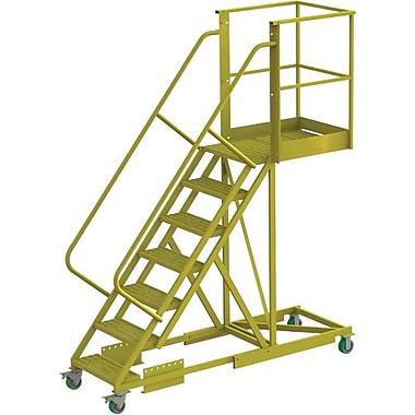 Tri-Arc – Échelle roulante à porte-à-faux de 70 po, renforcée, perforée, 91 x 30 (po) (UCS500730246)