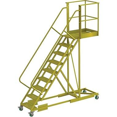 Tri-Arc – Échelle roulante à porte-à-faux de 90 po, renforcée, dentelée, 107 x 30 (po) (UCS500930242)