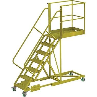 Tri-Arc – Échelle roulante à porte-à-faux de 70 po, renforcée, dentelée, 101 x 30 (po) (UCS500740242)