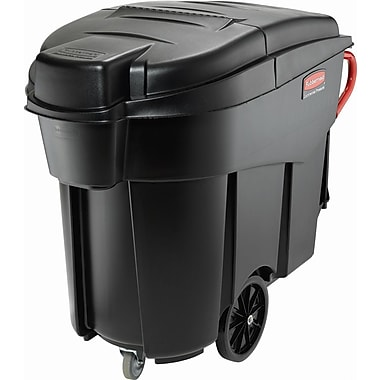 Rubbermaid – Collecteur mobile à déchets Mega BRUTEMD, 120 gallons, noir (FG9W7300BLA)