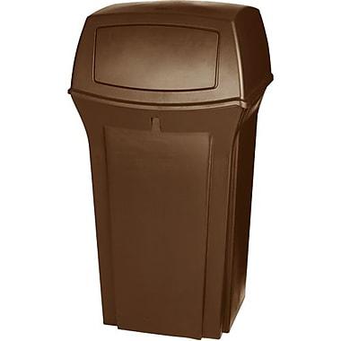 Rubbermaid RangerMD – Conteneur de déchets, brun, 35 gallons avec dessus à 1 porte (FG843088BRN)