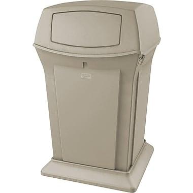 Rubbermaid RangerMD – Conteneur de déchets, beige, 45 gallons avec 2 ouvertures (FG917188BEIG)