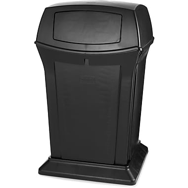 Rubbermaid Ranger® Waste Container, Black, 45 Gallons with 2 Door Top (FG917188BLA)