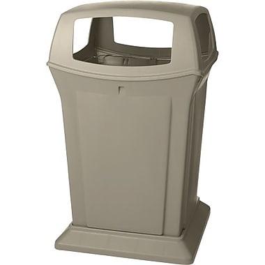 Rubbermaid – Conteneur de déchets RangerMD, beige, 45 gallons avec dessus à 4 portes (FG917388BEIG)