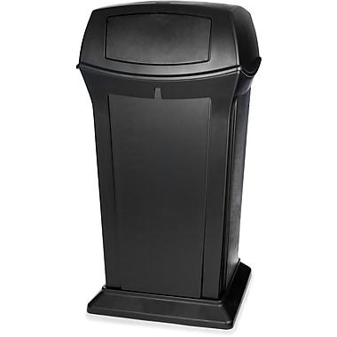 Rubbermaid RangerMD – Conteneur de déchets, noir, 65 gallons avec dessus à 2 portes (FG917500BLA)