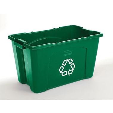 Rubbermaid – Boîte de recyclage « symbole de recyclage », 18 gallons, vert (FG571873GRN)
