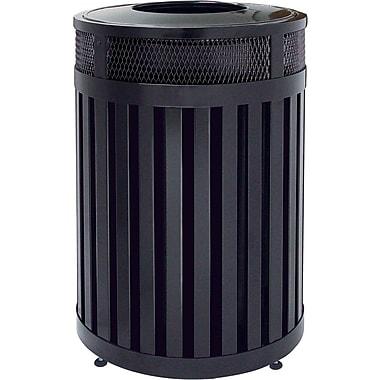 Rubbermaid – Conteneur à déchets extérieur à dessus ouvert, gamme Avenue, 24,5 prof. x 33,5 haut. (po), 37 gallons (FGMH46PLBK)