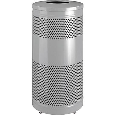 Rubbermaid – Contenant à déchets pour extérieur, série Classic, acier, 25gal, 18 diam. x 35,5 haut. (po), argenté (FGS3ETSMPLBK)
