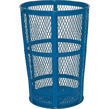 Rubbermaid – Poubelle grillagée, 45 gallons, bleu (FGSBR52COB)