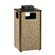 Rubbermaid – Conteneur extérieur collection Aspen, avec urne de protection contre les intempéries, 12 gallons (FGR12WU201PL)