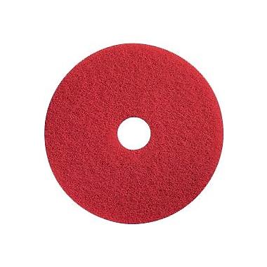 Dustbane – Tampon de polissage pour plancher, 15 po, rouge (42102)