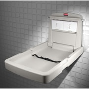 "Rubbermaid Vertical Baby Changing Station, 23"" x 34.1"" x 4"" (FG781988LPLAT)"