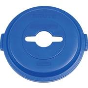 Rubbermaid – Couvercle BRUTEMD à trou de recyclage unique, 32 gallons, bleu (1788380)
