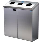 Frost – Poste de recyclage à trois trous, au sol, acier inoxydable (316-S)