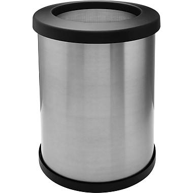 Shop Vac – Poubelle Shop-CanMD de 12 gallons, 14 pouces, acier inoxydable, couvercle ouvert (113-57)