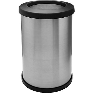 Shop Vac – Poubelle Shop-CanMD de 14 gallons, 14 pouces, acier inoxydable, couvercle ouvert (113-72)