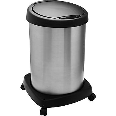 Shop Vac – Poubelle Shop-CanMD de 14 gallons, 14 pouces, acier inoxydable, couvercle à ressort (113-79)