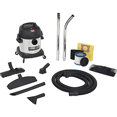 Shop Vac stainless steele Wet/Dry Vacuum with 2-Stage Long Life Motor, 4 Gallons (92724-10)