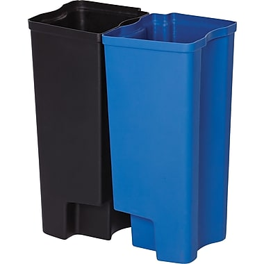 Rubbermaid Dual Liner For 8 Gallons Front Step Waste Container, Black (1901987)