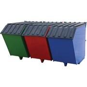 Vestil – Benne de recyclage à trois bacs, capacité de 2000 lb (ENVIR BIN)