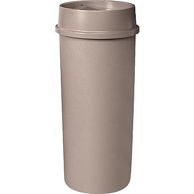 Rubbermaid – Contenant rond UntouchableMD, beige, 22 gallons, 15,75 prof. x 30 1/8 haut. (po) (FG354600BEIG)