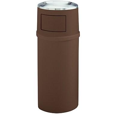 Rubbermaid – Corbeille brune de 21 gallons avec cendrier et portes, 18,5 po prof. (FG818088BRN)