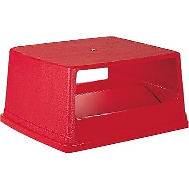 Rubbermaid – Couvercle bombé pour contenants GluttonMD avec portes, rouge, 26 5/8 long. x 23 larg. x 13 haut. (po) (FG256X00RED)