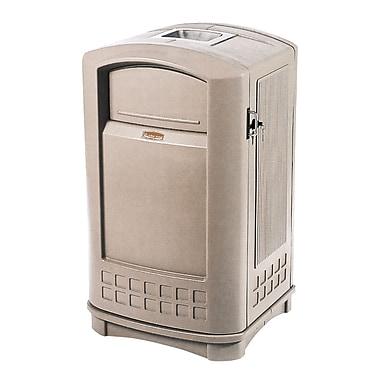 Rubbermaid – Conteneur avec cendrier PlazaMD, 35 gallons, beige (FG9P9100BEIG)