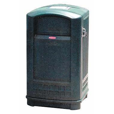 Rubbermaid – Contenant avec cendrier PlazaMD, 35 gallons, vert foncé (FG9P9100DGRN)