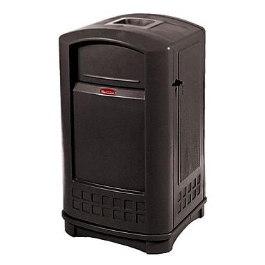 Rubbermaid PlazaMD – Conteneur avec cendrier, 50 gallons, noir (FG396500BLA)