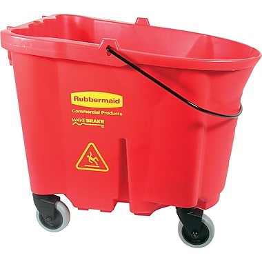 Rubbermaid – Seau à vadrouille, rouge, 8,75 gallons (FG757088RED)