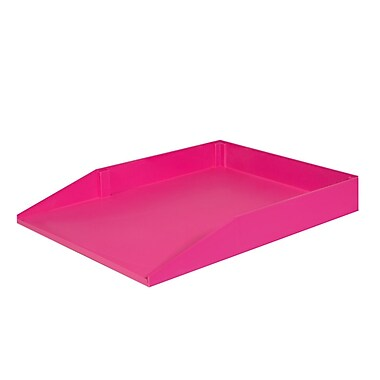 Solegear - Plateau de papier empilable Good Natured pour le bureau, légal, framboise