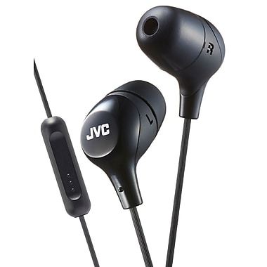 JVC HA-FX38M-B Marshmallow In-Ear Headphone with Mic & Remote, Black