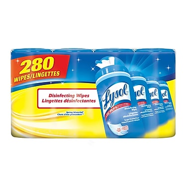 Lysol® Disinfecting Wipes, Spring Waterfall, 4/Packs of 70 Wipes (91219)