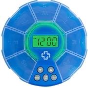 BIOS Living – Pilulier PharmaClock avec alarme, bleu (LF324)