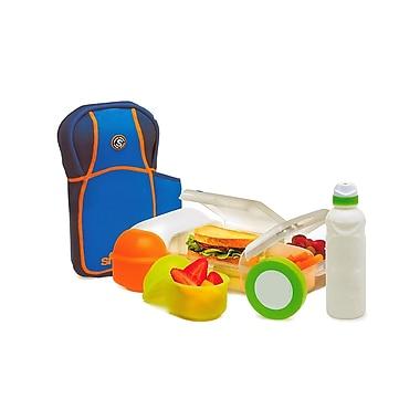 Boomerang – Ensemble pour le lunch avec sac-repas, 2 contenants à collation et une bouteille, bleu (23027)
