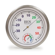 "BIOS Weather Colour Dial Thermometer with Hygrometer, 12"" Dial (820BC)"