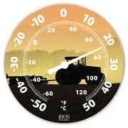 "BIOS Weather Dial Thermometer, Tractor Theme, 12"" (513BC)"