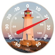 "BIOS Weather Dial Thermometer, Lighthouse Theme, 12"" (523BC)"