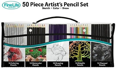 50 Artist Pencils Set in Bag