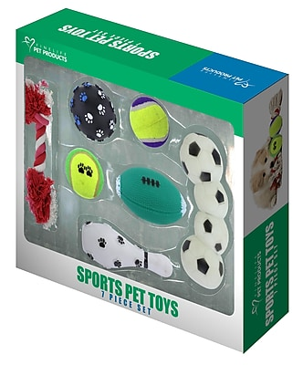 Sports Pet Toy 7 Piece Gift Set