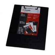 "Duraply ""Stay Clean"" Clipboard, Black, 5x8, 10/Pack"