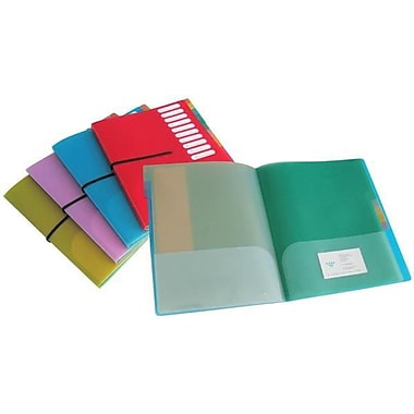VLB – Organiseur de projet avec 10 pochettes et fermeture à élastique, couleurs variées, 6/paquet
