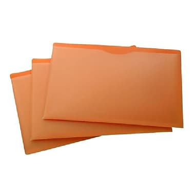Filexec Poly File Jacket, Orange, Legal, 10/Pack