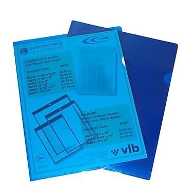 Filemode – Chemises transparentes en poly, bleu, format lettre, 60/paquet
