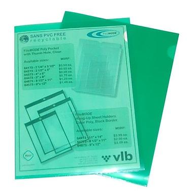 Filemode – Chemises transparentes en polypropylène, vert, format lettre, 60/paquet