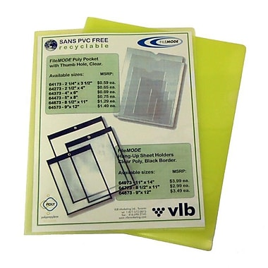 Filemode Poly View Folders, Yellow, Letter, 60/Pack