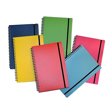 Filemode – Journal coloré Designer, 9 x 6,5 po, couleurs variées, 4/paquet