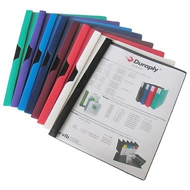 Filexec – Couverture de rapport en poly avec verrouillage slide-N-Lock, couvercle transparent, arrière noir, 12/paquet